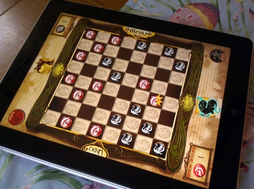 Dragon Checkers for the iPad