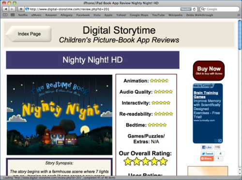 the Digital Storytime site