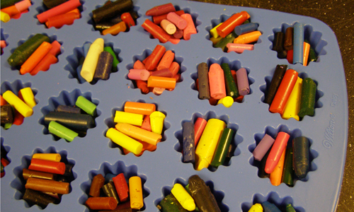 Star-Shaped Crayons Pre-Bake